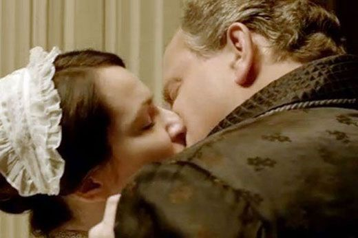 Oh no you didn't! Lord Grantham kisses Jane on Downton Abbey Season 2 Episode 7