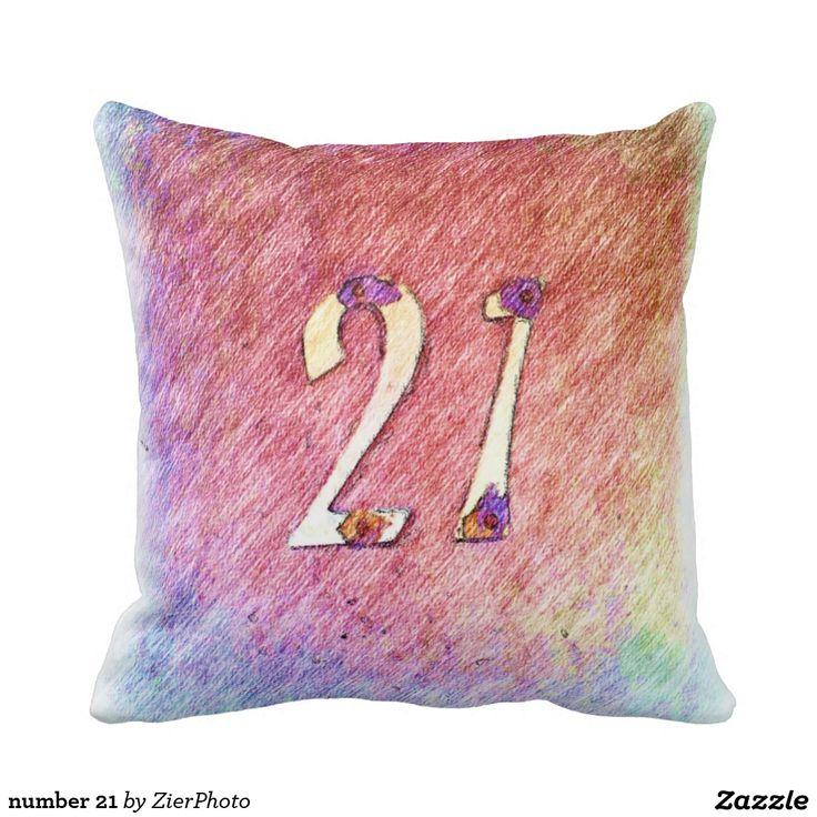 number 21 throw pillows