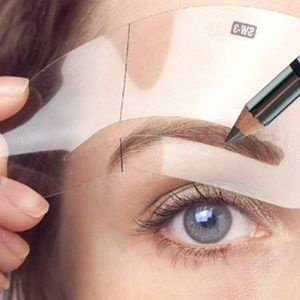DIY Eyebrow stencil. I need this! I can never get them the same.