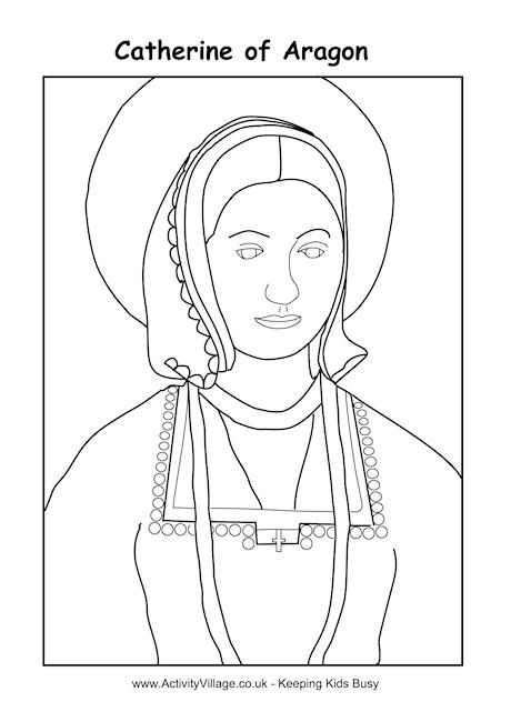 Catherine Of Aragon Colouring Page