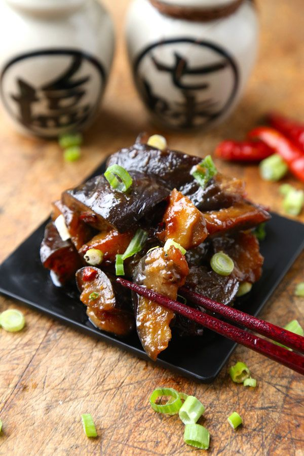 Sauteed Eggplant with Spicy Miso Sauce - Get this traditional Japanese classic sauteed eggplant with spicy miso sauce recipe from Pickled Plum - over 350 printable recipes and step by step photos.