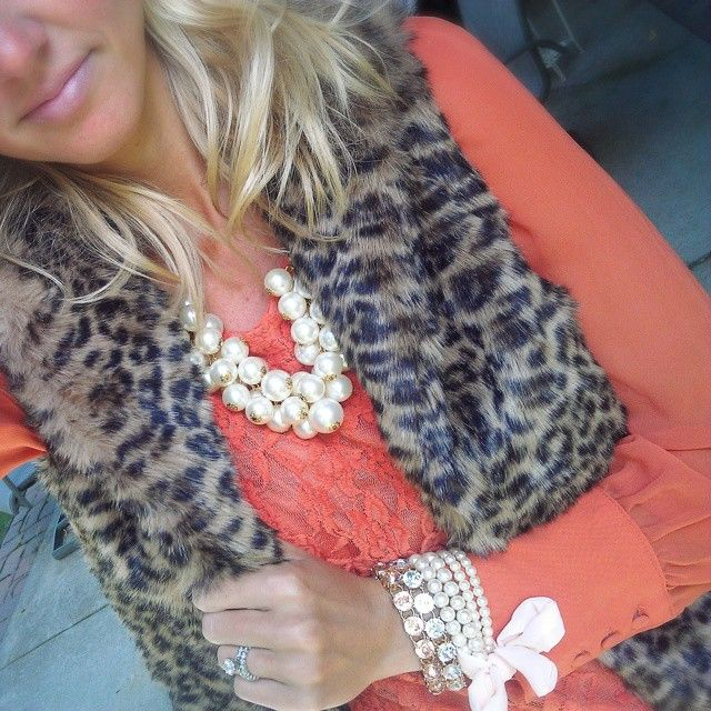Leopard, lace, and pearls!!!