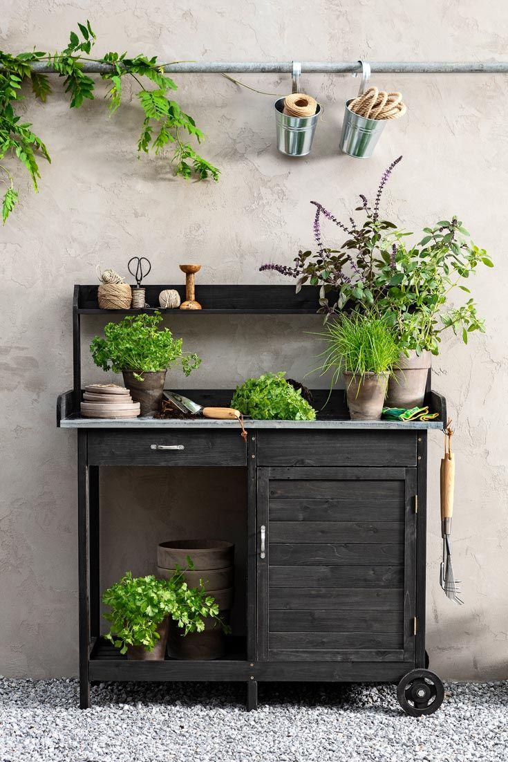 Dekorativer Pflanztisch Pflanztisch Pflanzen Grilltisch