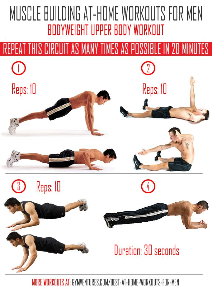 At-Home-Workouts-for-Men---Bodyweight-Upper-Body-Workout ...