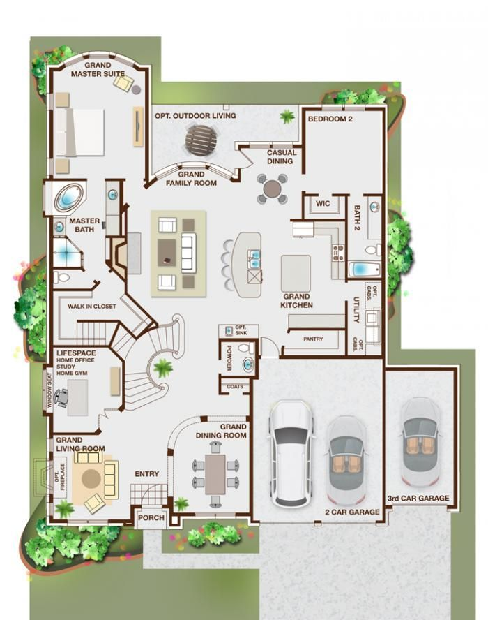 14 best images about new home floor plans on pinterest for Grand home designs fort worth