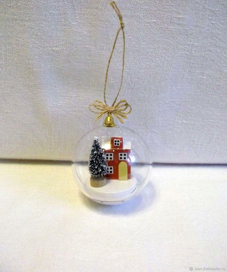 Купить Домики, миниатюра, новогодний шар в интернет магазине на Ярмарке Мастеров