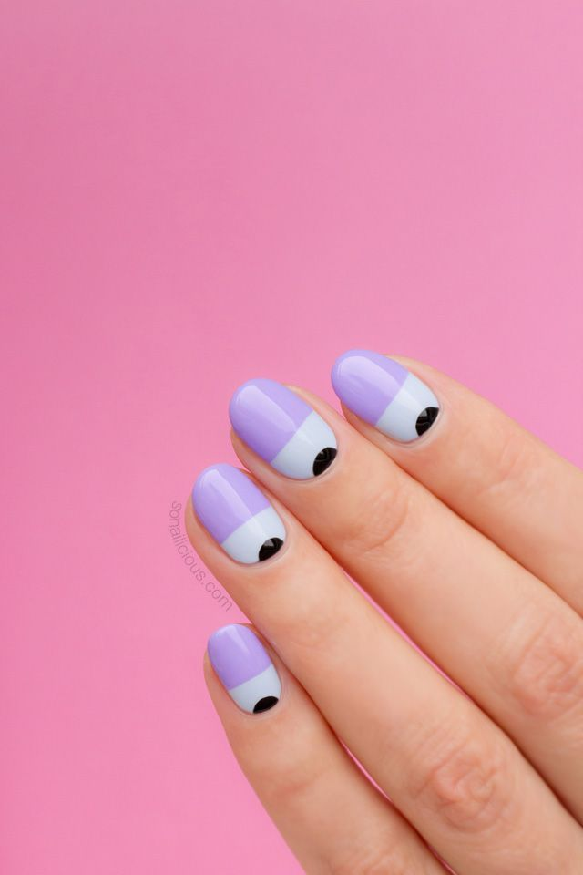 Purple Two Tone Nails || Nail Art Tutorial