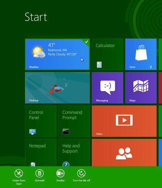 Getting around in Windows 8