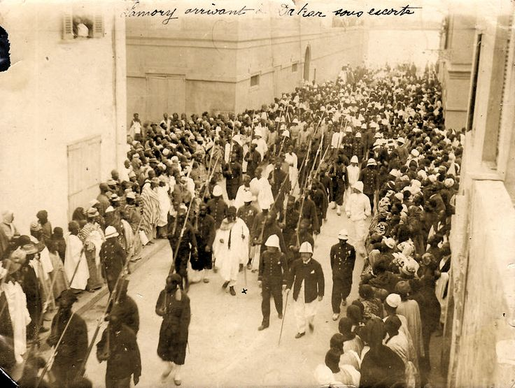Samory Touré in Dakar welcoming french administration, le 4 janvier 1899