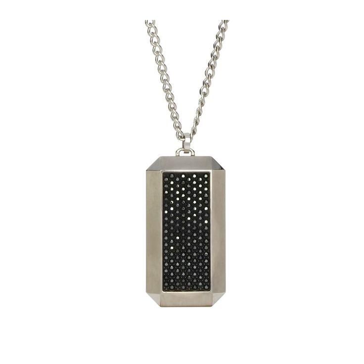 Swarovski Tension Black Crystal Pendant | John Greed Jewellery Bitten TV show Elena Michael's necklace