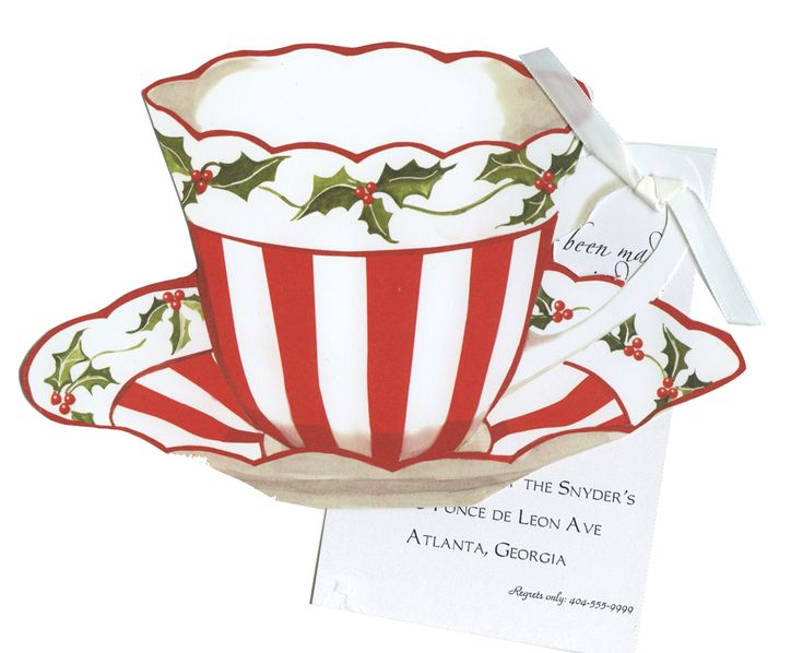 HW726W Red and White Christmas Tea Cup with glitter:
