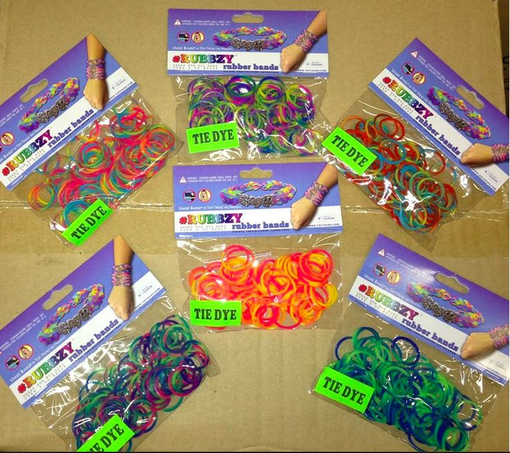Rubbzy Tie Dye Refill Rubber Bands For The Rainbow Loom