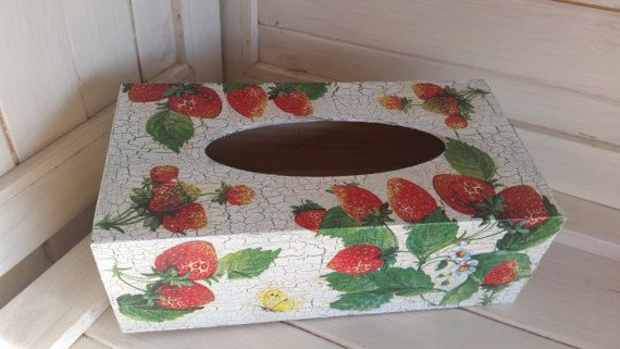 Vintage looking handmade country style tissue paper holder box https://www.etsy.com/listing/499668330/vintage-looking-handmade-country-style