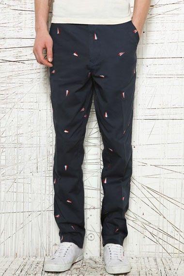 LACOSTE LIVE Men's Navy Pants w/Multiple Logos 100% Cotton Sz 34 X 32 NWT $165