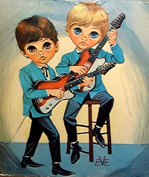 Big Eye Paintings by Keane | ... the disco era species to travel in a one blue eyed one green eyed pair