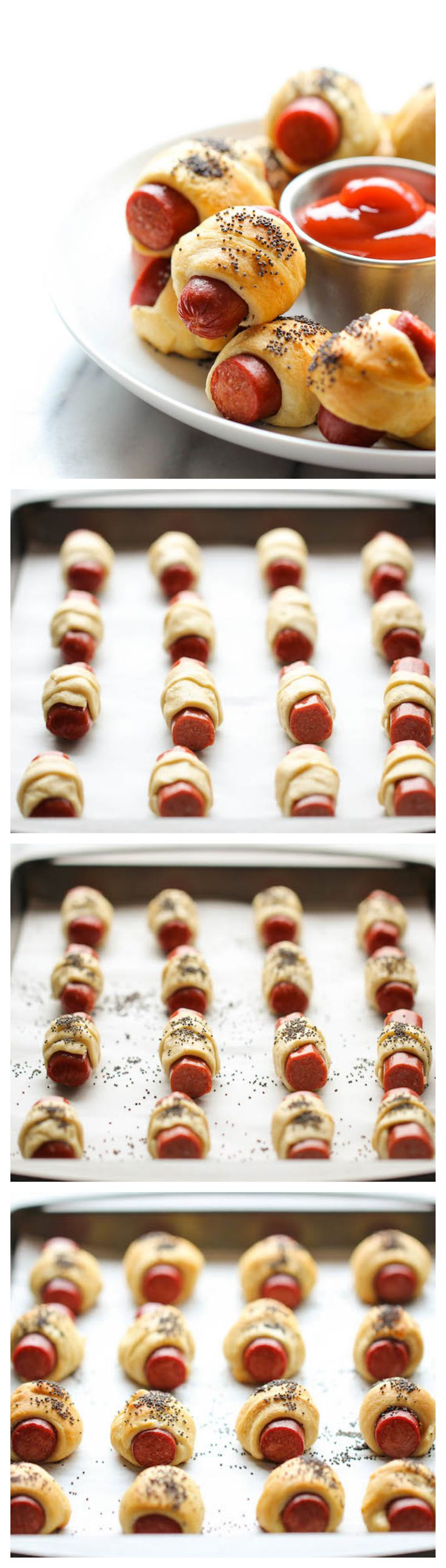 Classic Pigs in a Blanket - The easiest two ingredient pigs in a blanket. Perfect for game day or as an after-school snack!