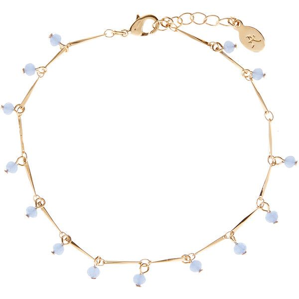 Accessorize Blue Heaven Anklet ($10) ❤ liked on Polyvore featuring jewelry, accessories, bracelets, necklaces, anklets, blue, bead jewellery, anklet jewelry, beaded anklets and chains jewelry