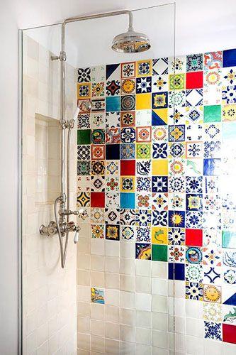Colourful bathroom tiles - © Costas Picadas/GAP Interiors