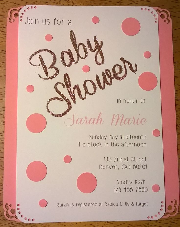 40 best baby shower invitations images on Pinterest | Baby showers ...