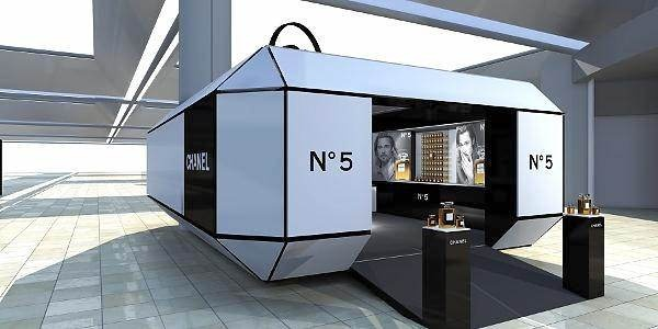 Chanel pod at airport in Istanbul
