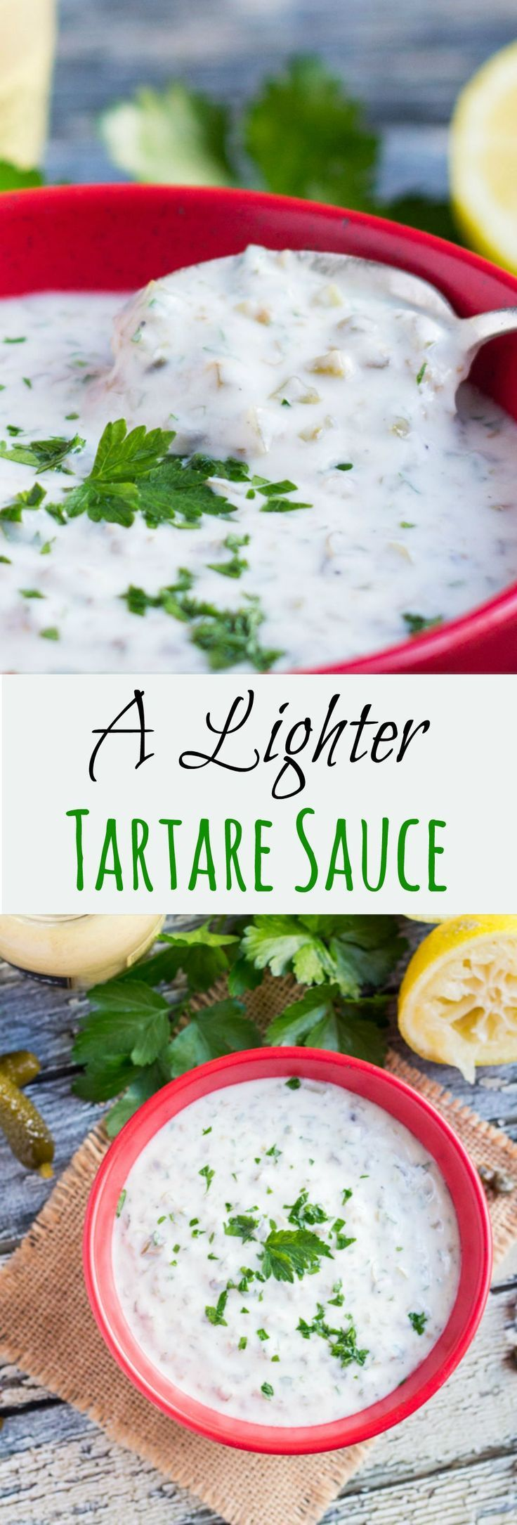 A Lighter Tartare Sauce. With yoghurt as the base, this sauce can be whipped up quickly using store cupboard ingredients.
