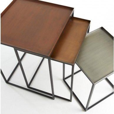 LaForma Set (3) Bijzettafels Vertig F - Multikleur