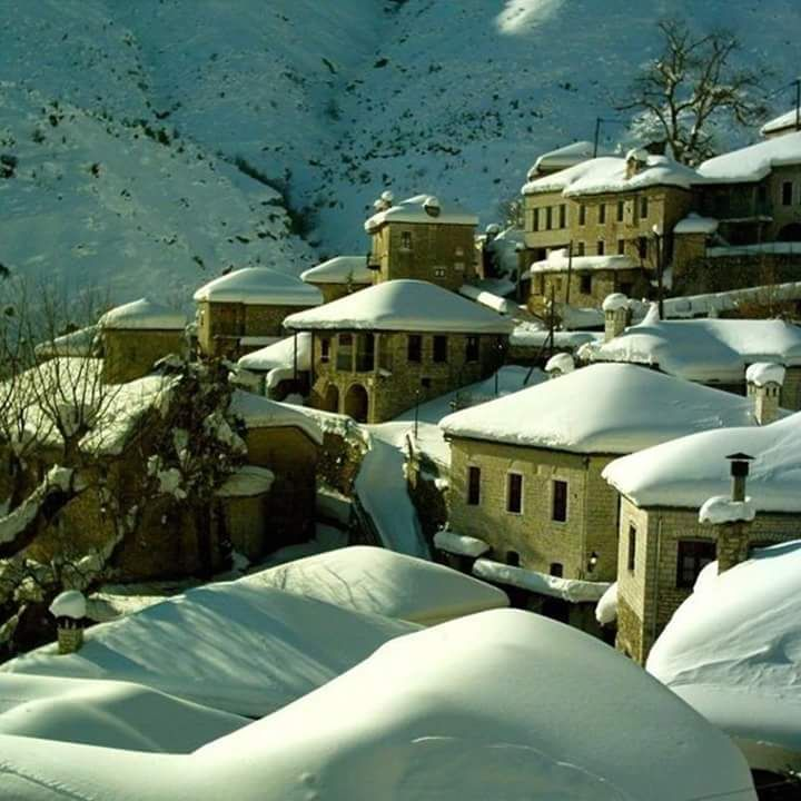 Village in Tzoumerka Mt, Epirus, Greece