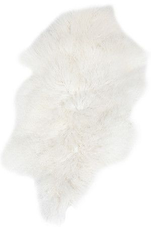 Jazz up your wooden or tiled floor with this off-white faux fur lamb rug. Made out of high quality pile, your feet will feel luxuriously extravagant in the softness of this rug. Ideal in a living area