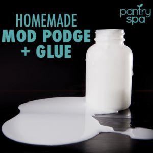 5 DIY Glue, Mod Podge & Fabric Stiffener Recipes (Save TONS of Money!)