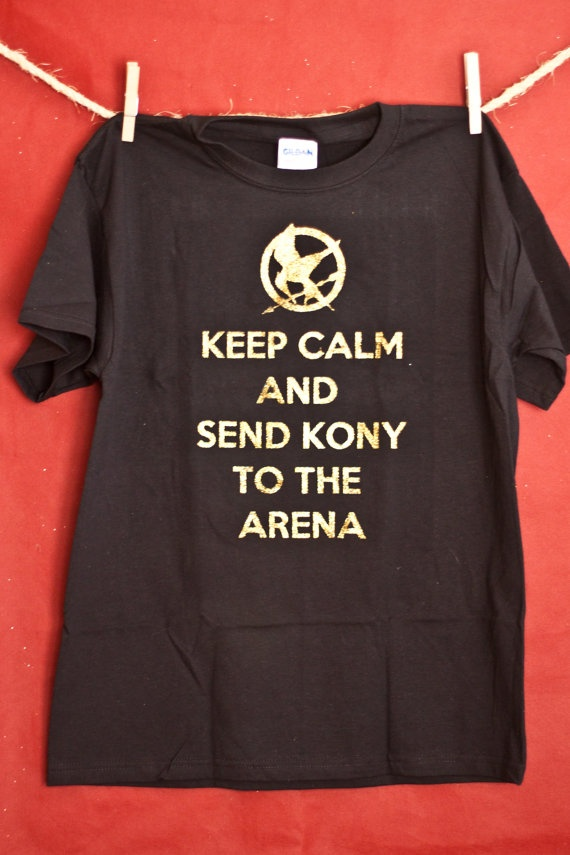 This shirt made me laugh. Putting Stop Kony and The Hunger Games together is something I would have never thought of :D