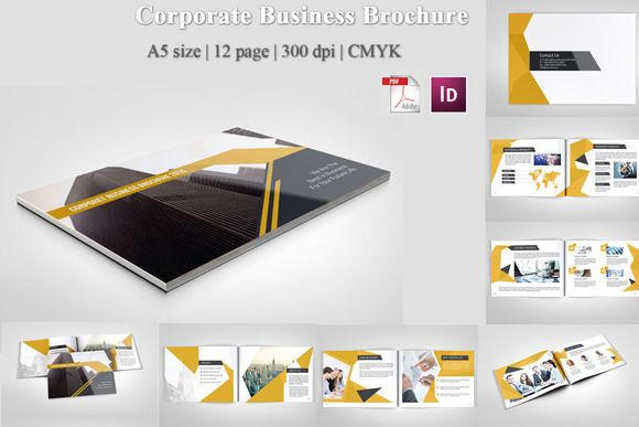 Corporate Business Brochure by Template Shop on Creative Market