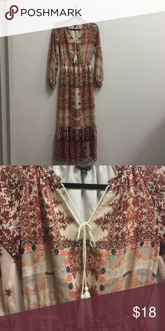 SALE! Aztec Maxi Dress Long Sleeves, Aztec Print Mossimo Supply Co Dresses Maxi