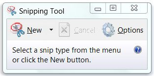 Use Snipping Tool to capture screen shots  -- You can use Snipping Tool to capture a screen shot, or snip, of any object on your screen, and then annotate, save, or share the image.