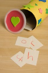 alphabet game: pick a letter; name 3 things that start w/that letter; if you can, you keep the letter.