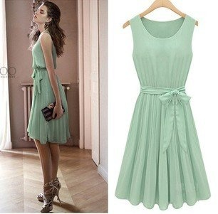 Mint Chiffon Dress, $18.04. Somebody PLEASE get me this for Christmas!