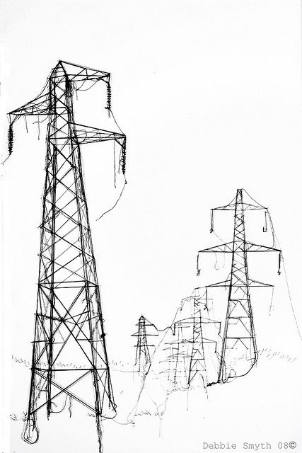 Who? Debbie Smyth What? Crafted Pylons. Why? I like the idea of using the monochromatic style to bring out the urban aspect of pylons when usually they appear in rural landscapes.