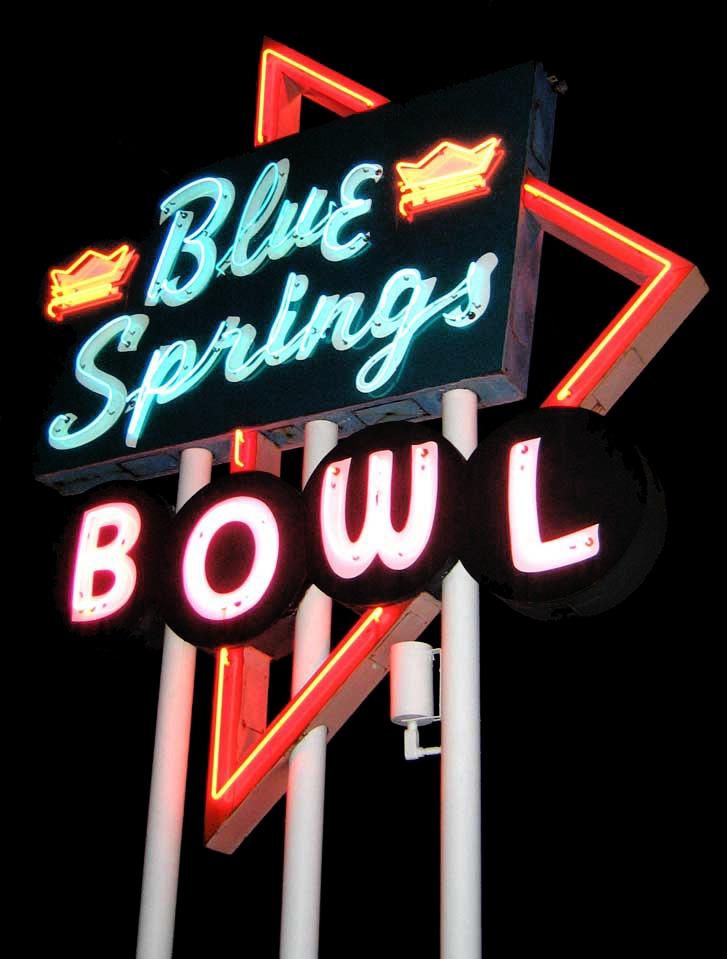 Blue Springs Bowl Neon Sign ~ Kansas City