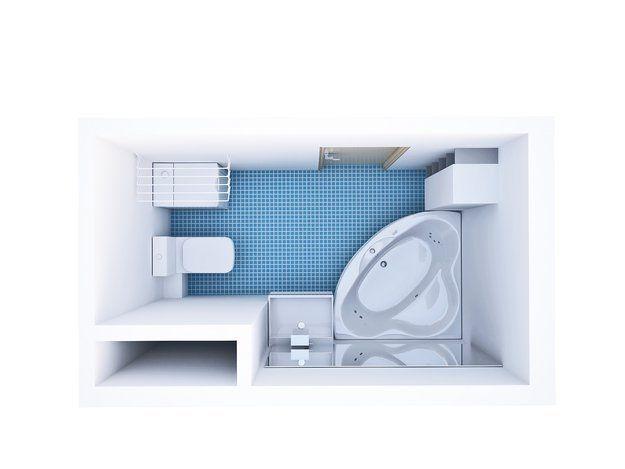 Ванная, Квартира, Дома и квартиры, Ванна, душ, совмещенный санузел, раздельный санузел, угловая ванна – фото на InMyRoom.ru