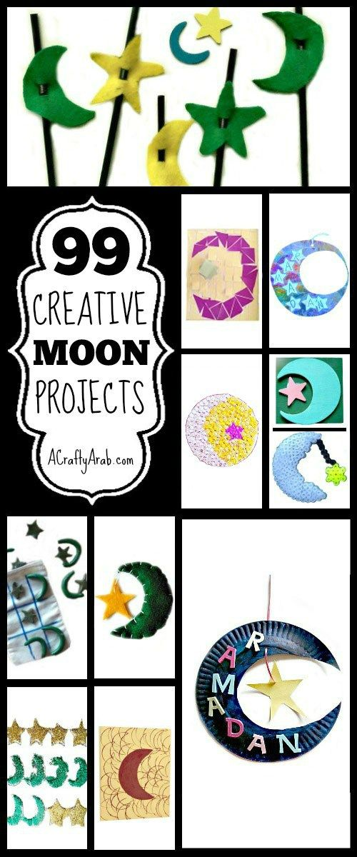 A Crafty Arab: 99 Creative Moon Projects {Resource}. Continuing our 99 Creative Project Series, I thought I'd bring together moon Ramadan projects. The Islamic calendar is lunar based, so the moon plays a significant roll in the religion. The crescent moon and star emerged into popular use during the 19th century as a symbol for the Ottoman Empire. It is now on half …