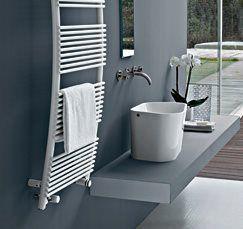 #Tubes #Parentesis #Towel #Heater | on #bathroom39.com | #Radiator #Towel #Heater #Bathroom #design