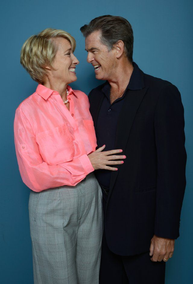 Pierce Brosnan and Emma Thompson at event of Love Punch