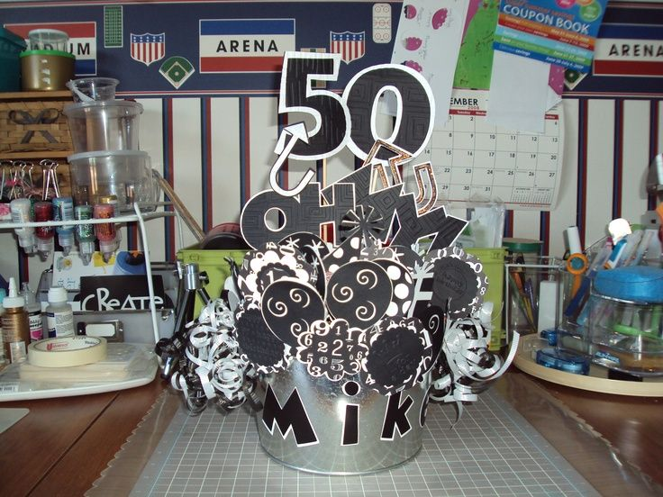 50th birthday party themes for men via marianna montoya for 50th party decoration ideas