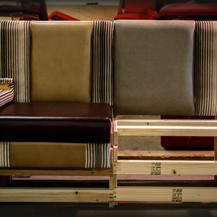 Almost Finished, This Restaurant Banquette Seating Has Wide Fluted And  Shaped Upholstery In Both Fabric