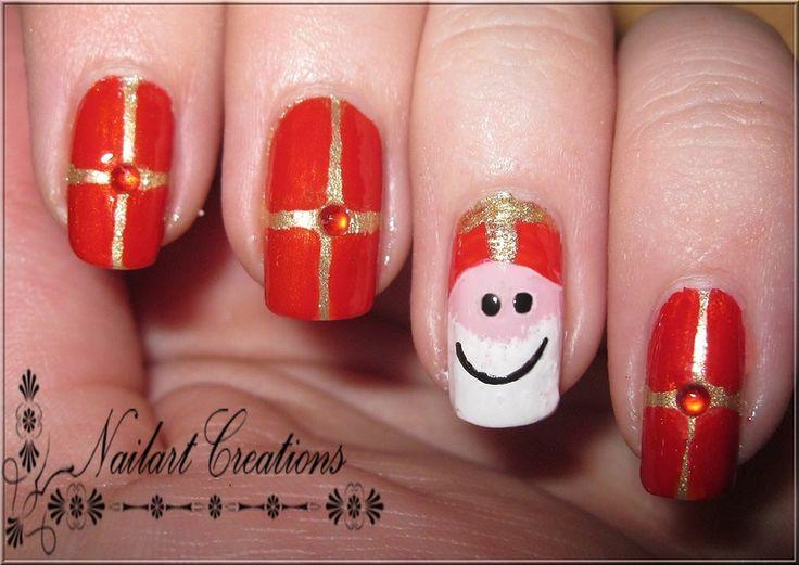 Nagels met Sinterklaas-motief