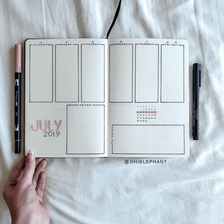 Jessica's Pink and Green Bullet Journal