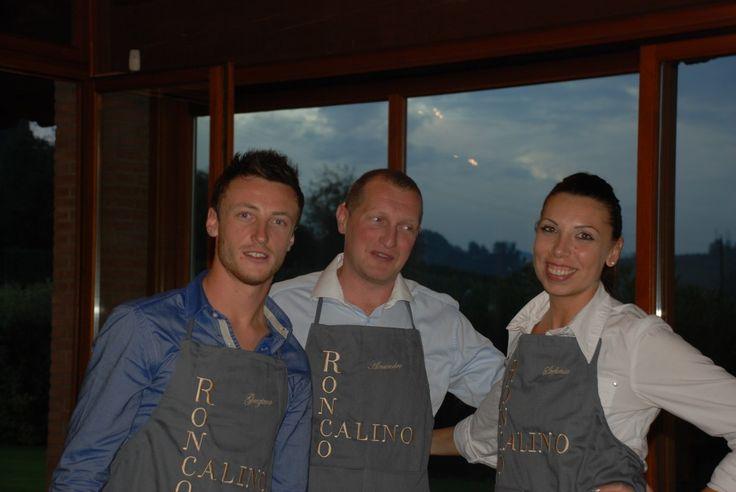 Graziano, Alessandro e Stefania. Collaborator in the winery.
