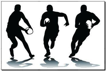 Photo Print tří rugby silueta k19059395 - plakáty, tisk na plátně, na stěnu, vytištěné reprodukce, nástěnnými malbami - k19059395.eps