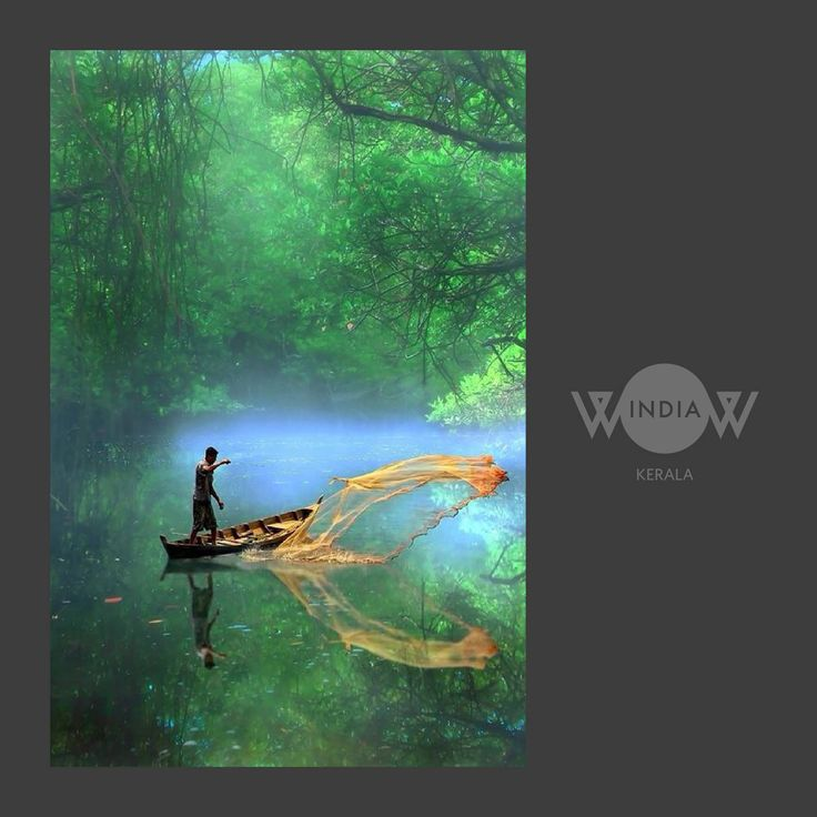 """""""Serenity is in the lap of nature""""- Backwaters, India Showcasing the beauty of our nation-WOW INDIA  #wowindia #manishcreations"""