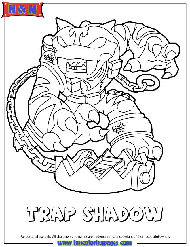 skylanders swap force magic trap shadow coloring page