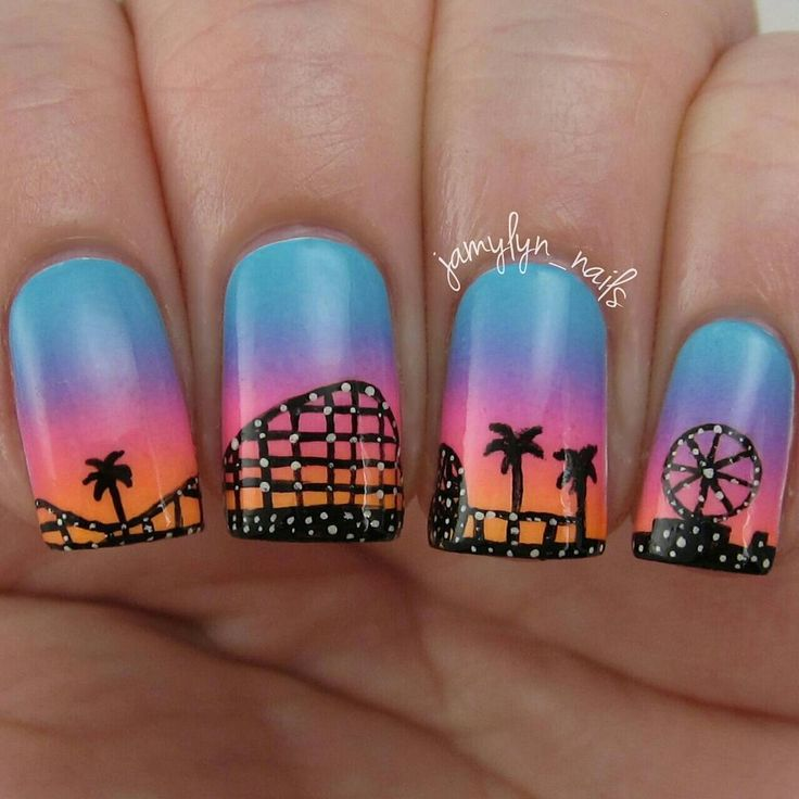 Nail Art Inspired by The Santa Cruz Boardwalk